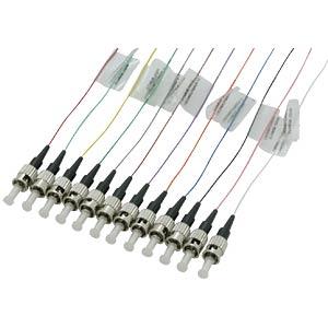 Faserpigtail ST,12 Pigtails,ST OM2 50/125µ FIBREFAB ST50B2E-12/1B