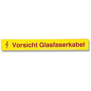 """LWL-Kennzeichnungsstreifen """"Vorsicht Glasfaser"""" EFB-ELEKTRONIK 80361.1-50"""