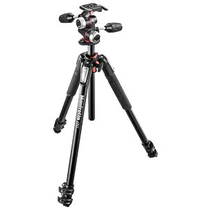 055 kit - alu 3-section horiz. column tripod + 3 way head MANFROTTO MK055XPRO3-3W