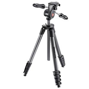 Compact Advanced Stativ-Set, 3-Wege, schwarz MANFROTTO MKCOMPACTADV-BK
