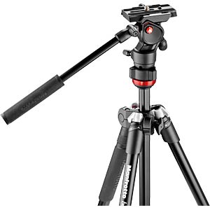 Aluminum tripod, Befree live with fluid head MANFROTTO MVKBFR-LIVE