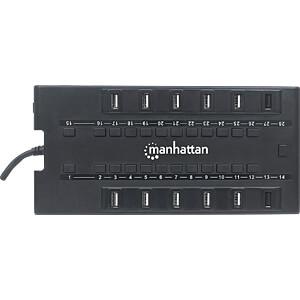 28-Port USB 3.0/2.0 - HUB mit Netzteil MANHATTAN 163606