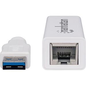 Netzwerkkarte, USB 3.0, Gigabit Ethernet, 1x RJ45 MANHATTAN 506847