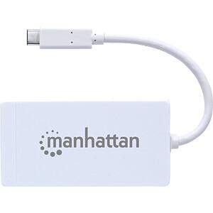 Netzwerkkarte, USB Typ C, Gigabit Ethernet, 1x RJ45 MANHATTAN 507608