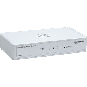 Switch, 5-Port, Gigabit Ethernet MANHATTAN 560696