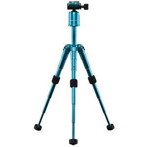 Foto-, Tisch- und Travelstativ, blau MANTONA 21184