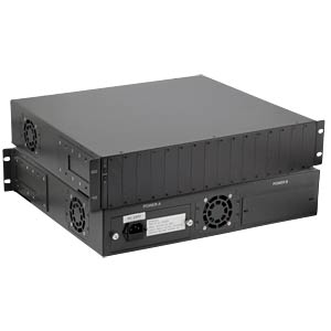 "Converter Chassis 19"" 16-Slot for CM-011 LANTECH MC-CHASSIS-1"