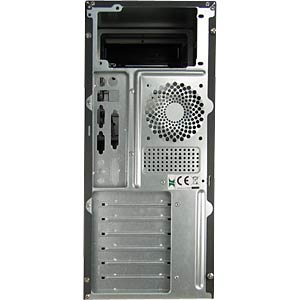Midi-ATX Tower schwarz/silber, o. NT INTER-TECH 88881222