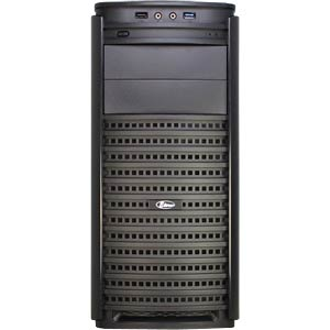Midi tower black. front 2x USB, audio INTER-TECH 88881162