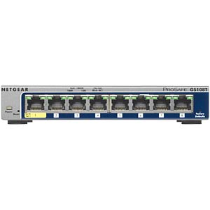 Switch, 8-Port, Gigabit Ethernet, PoE NETGEAR GS108T-200GES