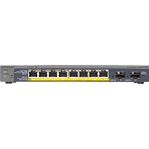 8 x 10/100/1000 Managed Switch/ PoE+ 2x Fiber NETGEAR GS110TP-200EUS