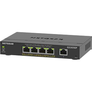 Switch, 5-Port, Gigabit Ethernet, PoE+ NETGEAR GS305EP-100PES