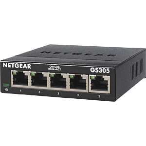 Netgear Switch 5x 10/100/1000 MBit/s NETGEAR GS305-100PES