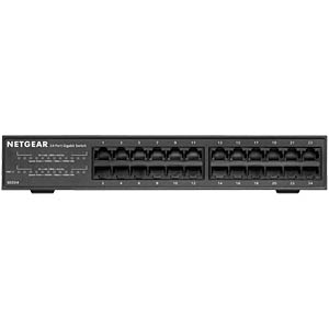 Switch, 24-Port, Gigabit Ethernet NETGEAR GS324-100EUS