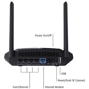 WLAN Router 2.4/5 GHz 1200 MBit/s NETGEAR R6120
