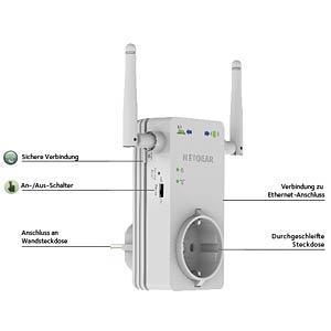 Universal Wi-Fi Range Extender 300MBit/s NETGEAR WN3100RP-100PES