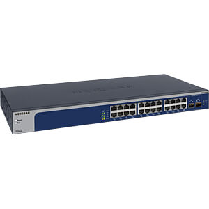 Switch, 24-Port, 10 Gigabit Ethernet, Managed NETGEAR XS724EM-100EUS