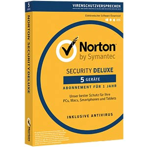 Software, Security Deluxe, 1 Anwender, 5 Geräte NORTON 21355368