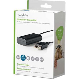 Audiosender, Bluetooth®, Bis zu 2 Kopfhörer, Schwarz NEDIS BTTR100BK