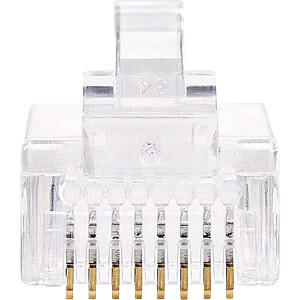 RJ45-Stecker, Cat 5, UTP, 10 Stück, Transparent NEDIS CCGP89301TP