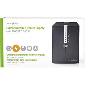 Uninterruptible Power Supply, 2000 VA, 1200 W NEDIS UPSD2000VBK