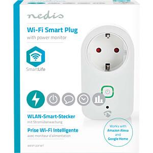 Schaltbare WLAN-Steckdose, Stromüberwachung NEDIS WIFIP120FWT