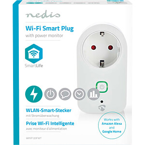 WiFi Smart Plug , Power Monitor, Schutzkontaktstecker Type F, 16 NEDIS WIFIP120FWT