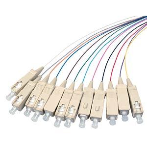 Faserpigtail SC, 12 Pigtails 50/125µ OM2, 2 m EFB-ELEKTRONIK O3324.2