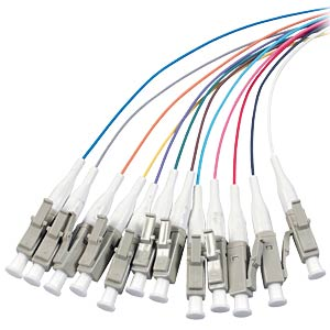 Faserpigtail LC, 12 Pigtails 50/125µ OM4, 2 m EFB-ELEKTRONIK O3483.2