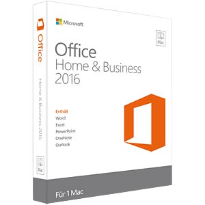 Software, Office 2016 Home & Business Mac (PKC) MICROSOFT W6F-00963