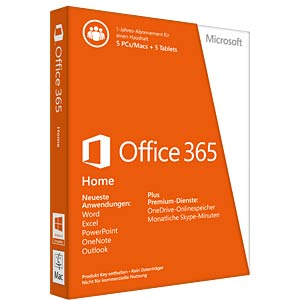 Software, Office 365 Home (1 Jahr) MICROSOFT 6GQ-00674