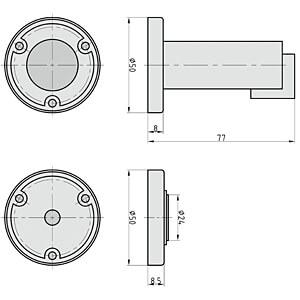 Magnet-Türfeststeller OLYMPIA 7059