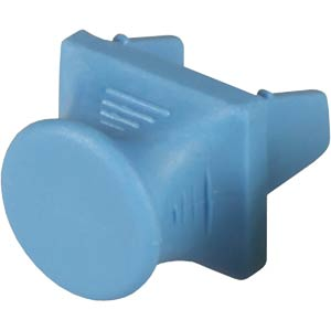 Staubkappe für Patchpanel, blau FREI