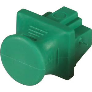 RJ45 blanking plug for patch fields, green FREI