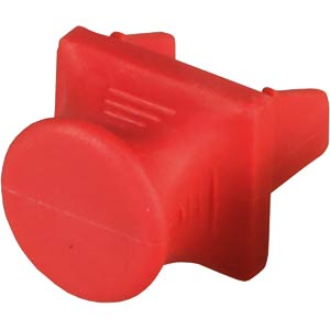 RJ45 blanking plug for patch fields, red FREI