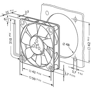 Papst replacement fan 50x50x15 EBM-PAPST 512F/2