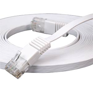 1m Cat.6 flat patch cable, white FREI