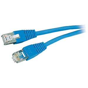 0.5m Cat.5e cable, blue, network cable RJ45 FREI