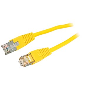 15m Cat.5e cable, yellow, network cable RJ45 FREI