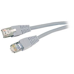 10m Cat.5e cable, grey, network cable RJ45 FREI