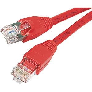 1.0m Cat.5e cable, red, network cable RJ45 FREI
