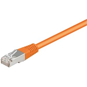 1,0m Cat.5e-Kabel, orange, Netzwerkkabel RJ45 FREI