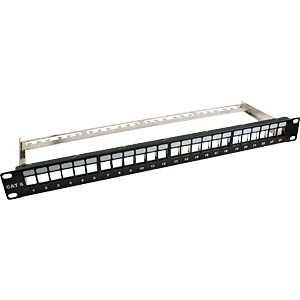 "48 cm (19"") RJ45 patch panel, unpopulated, black EFB-ELEKTRONIK 37580.1"
