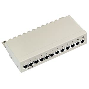 Mini-Patchpanel, 12-Port, Cat.5, 1 HE FREI