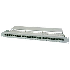"48cm (19"")-Patchpanel, Cat. 6+, 24 Port FREI"