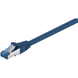Cat.6a high-quality patch cable, blue, 5M FREI