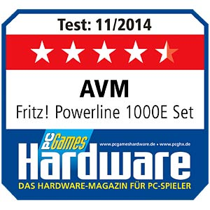 FRITZ!Powerline 1000E Single Adapter AVM 20002685