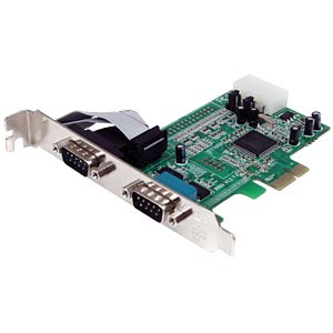 2 Port RS232, seriell, PCIe Karte, Low Profile STARTECH.COM PEX2S553