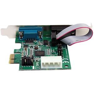 2 Port RS232, seriell, PCIe Karte, Low Profile STARTECH.COM PEX2S952