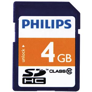 SDHC-Card 4GB Philips Class 10 PHILIPS FM04SD45B/10